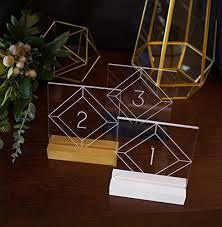 acrylic table numbers wedding amazon com acrylic table numbers for wedding tables party or event