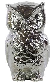 225 best pizzazz home decor most popular images on pinterest home decor unique home decor ceramic owl chrome silver 52 00