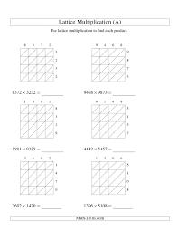 Cross Multiplication Worksheets 4 Digit Multiplication Boxfirepress