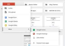 Langkah Membuat Google Form | cara membuat formulir online menggunakan google form