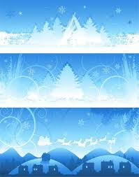 christmas snow background vector image clipart me