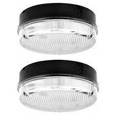 round bathroom light fixtures 2x sylvania guide low energy 16w round bulkhead light black base