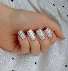 imagenes de uñas acrilicas con pedreria nail art strass cómo decorarte las uñas con cristalitos