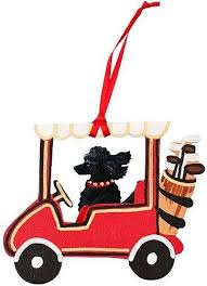 black poodle ornament lover gifts for the