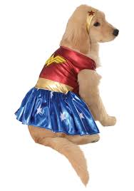 dog clothes for halloween wonder woman pet costume