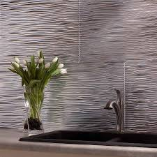 Fasade Backsplash Panels Reviews by Fasade Backsplash Waves In Brushed Aluminum