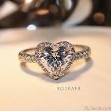 rings jewelry love images Romantic love heart zircon shining wedding jewelry silver diamond jpg