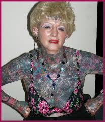 the most tattooed senior woman of the world lady electric flickr