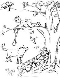 peter and the wolf coloring pages coloring page