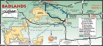 badlands national park map suggested itineraries and destinations badlands south dakota