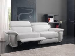 magasin canapé italien canapé têtière cuir design blanc gris fabrication italien magasin