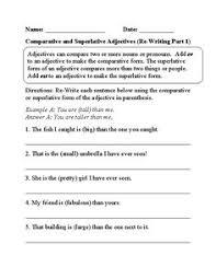 what kind adjectives worksheets englishlinx com board