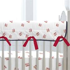 red and navy baseball crib bedding carousel designs