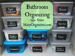 bathroom organizing tips add travel tolietries sunscreen diy