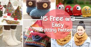 how to knit 45 free and easy knitting patterns diy projects