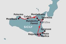 Map Of Italy And Sicily by Spirit Of Sicily Italy Tours Peregrine Adventures Us