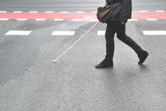 Blind People Stick Pedestrian Crossing Blind People Stock Images 27 Photos