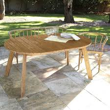 Expandable Patio Table Outdoor Expandable Dining Table West Elm