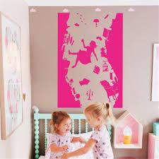 alice in wonderland wall stickers art decoration vinyl bunny wall