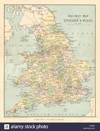 Map Of Wales And England by Great Britain Railways Railway Map Of England U0026 Wales Philip