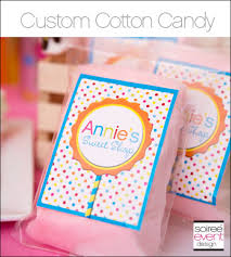 personalized cotton candy bags custom cotton candy bags with personalized labels from soiree