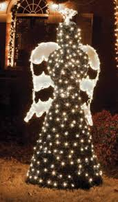 lighted angel christmas decoration 6 5 giant commercial grade led lighted angel topiary yard art