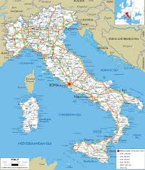 Italy World Map by Italy Road Map Travel Holiday Map Travelquaz Com