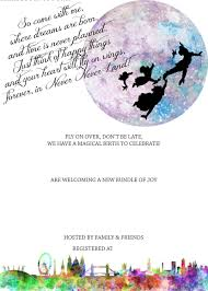 free printable peter pan in neverland baby shower invitation