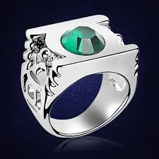 swarovski rings green images Green lantern ring austria crystal fashion rings for women man jpg