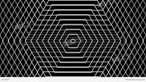 grid pattern alpha hexagonal line grid with alpha matte stock animation 6570691