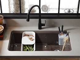 KUA Riverby UnderMount Kitchen Sink With Accessories - Kohler kitchen sink drain