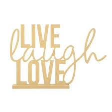 live laugh love kaiserwood stand phrase live laugh love