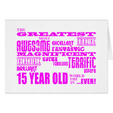 15 years old greeting cards zazzle