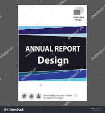 Annual Report Cover Page Template by Blue Annual Report Title Page Sample Stock Vector 435919045