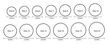 men ring sizes ring size