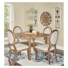 brown collection canby 5pc dining set brown oak grove collection target