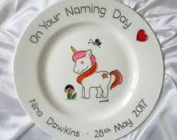 keepsake plate unicorn naming day gift unicorn baby keepsake plate gift for