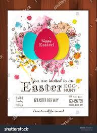 Invitation Paper Easter Egg Hunt Invitation Paper Eggs Stock Vector 253280677