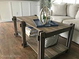 farmhouse coffee and end tables ana white rustic farmhouse coffee table featuring sawdust 2