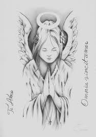 praying angel tattoo drawing pictures to pin on pinterest tattooskid