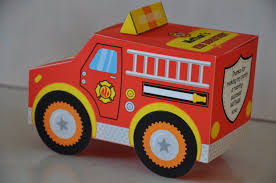 Favor Toys by Fireman Firefighter Truck Favor Box Or Cupcake