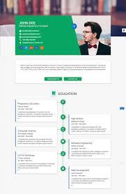 graphic web designer resume example cv template developer flat for