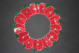 printed apple wreath craft scholastic