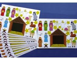 bulk buy 120 christian nativity sticker sheets for christmas crafts