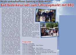 Bad Bederkesa Bad Bederkesa Lädt Zum Fahrzeugmarkt Mit Bbq