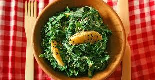 comment cuisiner le chou kale salade de chou kale à l orange et au sésame association manger