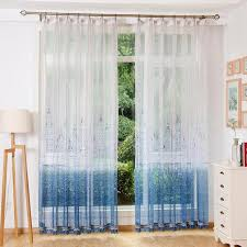 Patterned Sheer Curtains Blue And White Funky Patterned Sheer Curtains
