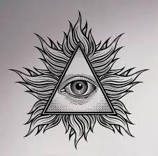 all seeing eye wall vinyl decal illuminati sigh pyramid sticker