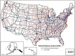 map us interstate system controlled access highway