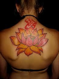 Big Flower Tattoos On - big lotus flower on back